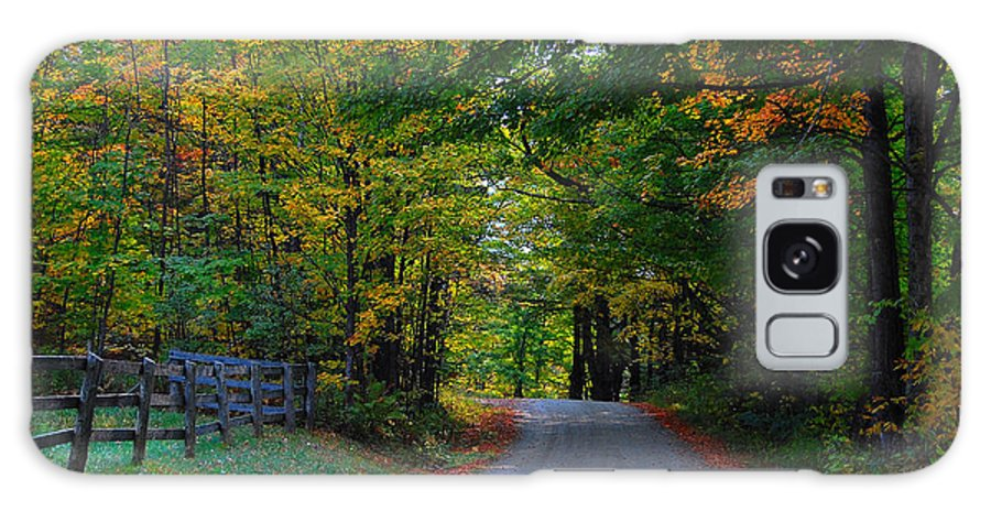Autumn Galaxy S8 Case featuring the photograph Take Me Home Country Road by Jim Southwell