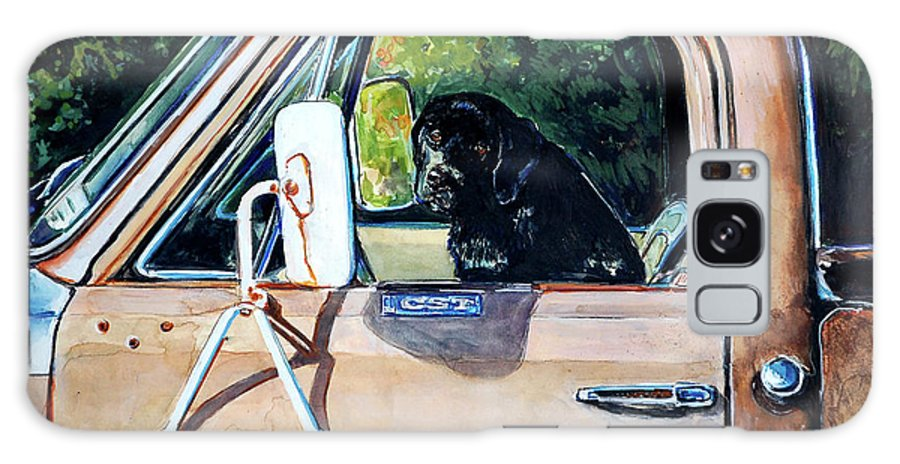Black Labrador Retriever Galaxy S8 Case featuring the painting Take Me With You by Molly Poole
