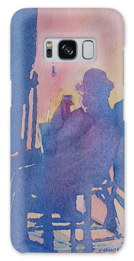 Musician Galaxy S8 Case featuring the painting Taking Ten With My Shadow by Jenny Armitage