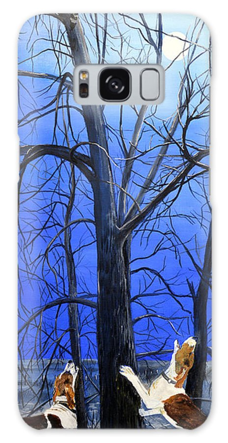 Raccoon Galaxy S8 Case featuring the painting Talk To Him Boys by Alvin Hepler