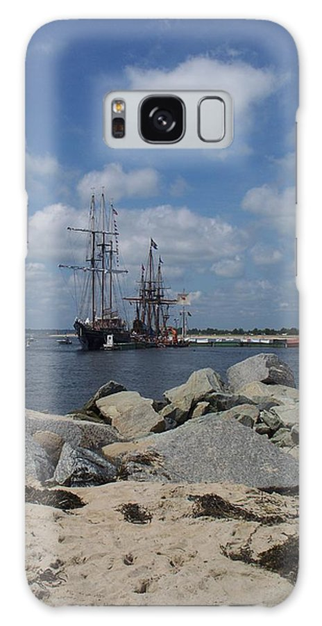 Seascape Galaxy S8 Case featuring the photograph Tall Ships In The Distance by Rosanne Bartlett