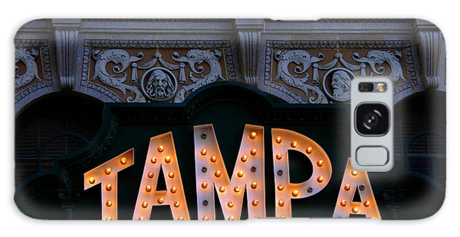Tampa Theatre Galaxy S8 Case featuring the photograph Tampa Theatre Sign 1926 by David Lee Thompson