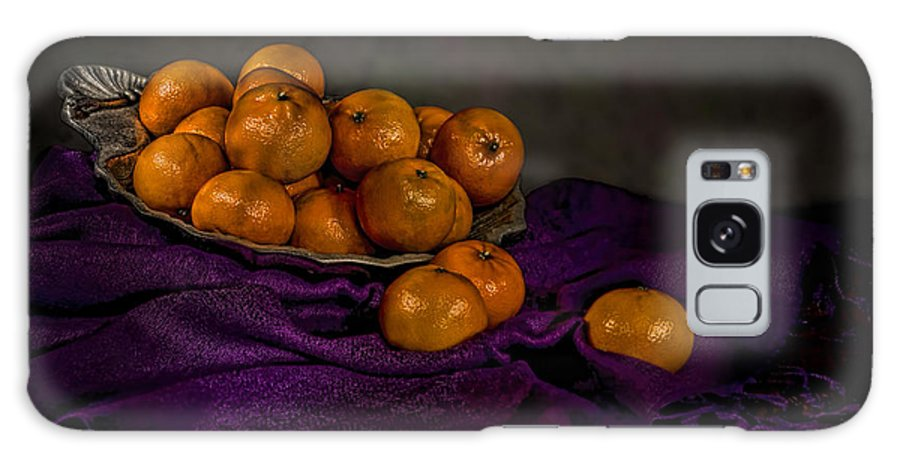 Food Galaxy S8 Case featuring the photograph Tangerines In A Shell Platter by Leah McDaniel