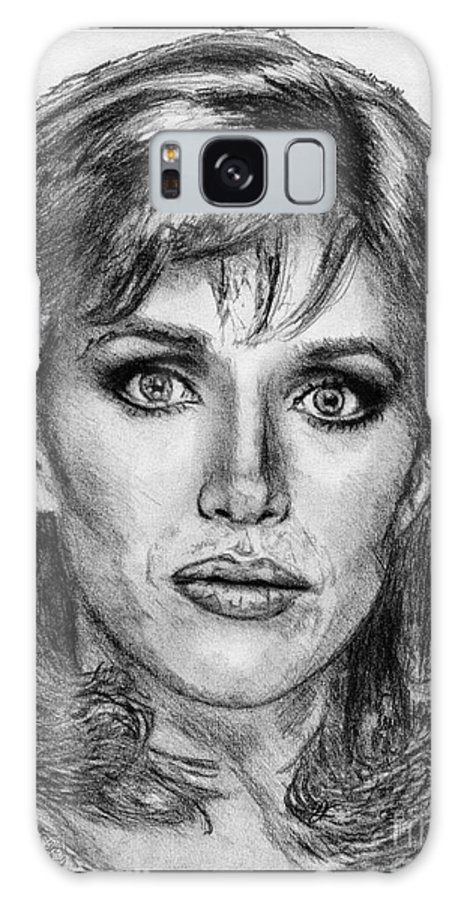 Mccombie Galaxy S8 Case featuring the drawing Tanya Roberts In 1981 by J McCombie