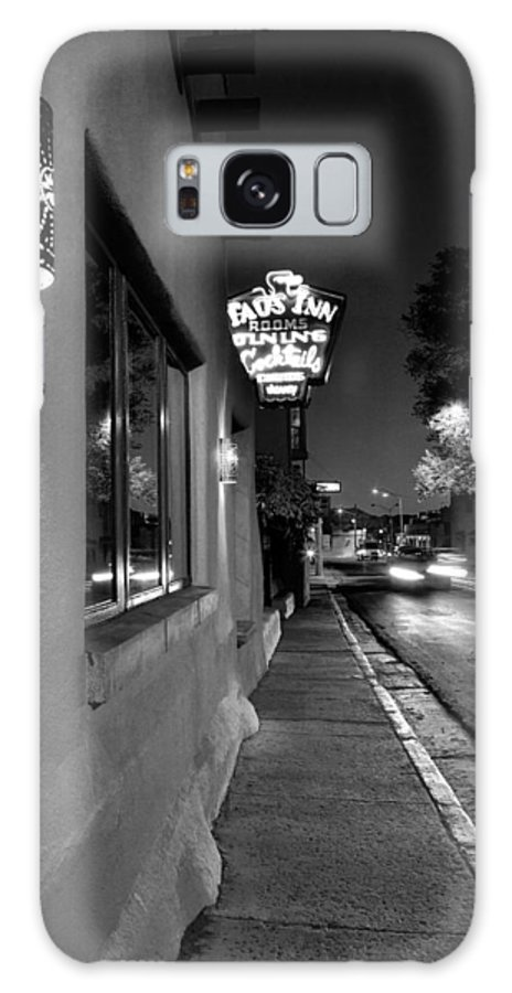 Neon Galaxy S8 Case featuring the photograph Taos Inn Neon by Diana Powell