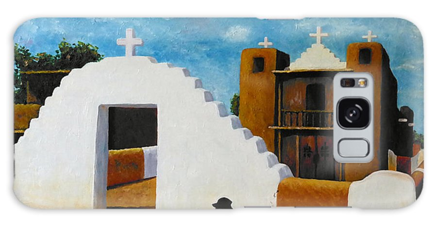 Church Galaxy S8 Case featuring the painting Taos Pueblo Church by Francesca Kee