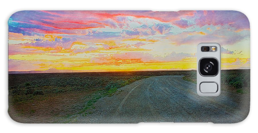 Taos Galaxy S8 Case featuring the photograph Taos Sunset On Rice Paper by Charles Muhle
