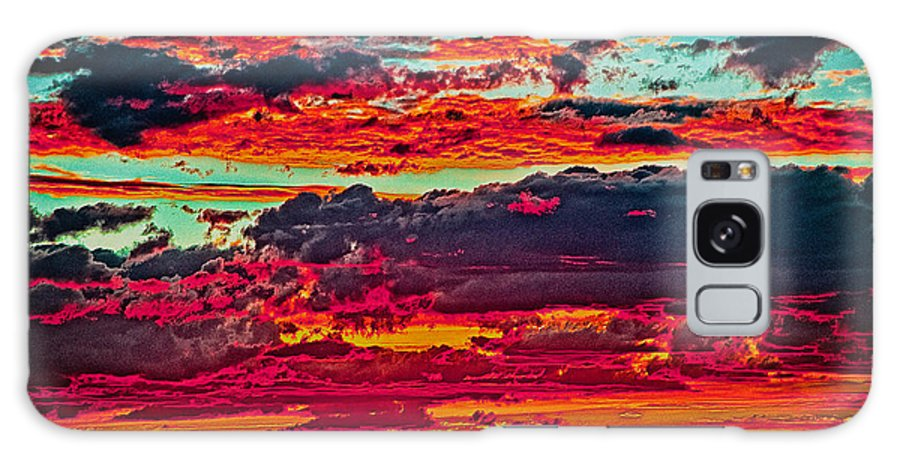 Taos Galaxy S8 Case featuring the photograph Taos Sunset Xix by Charles Muhle