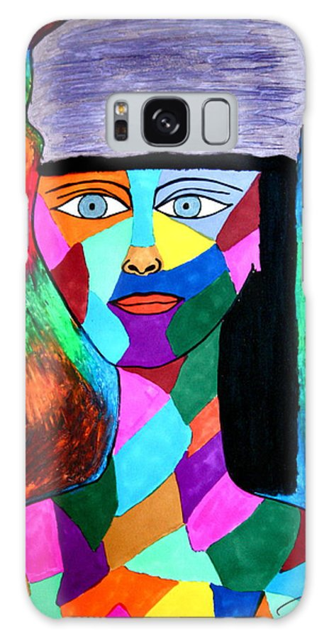Colors Galaxy S8 Case featuring the drawing Tapestry by Chrissy Pena