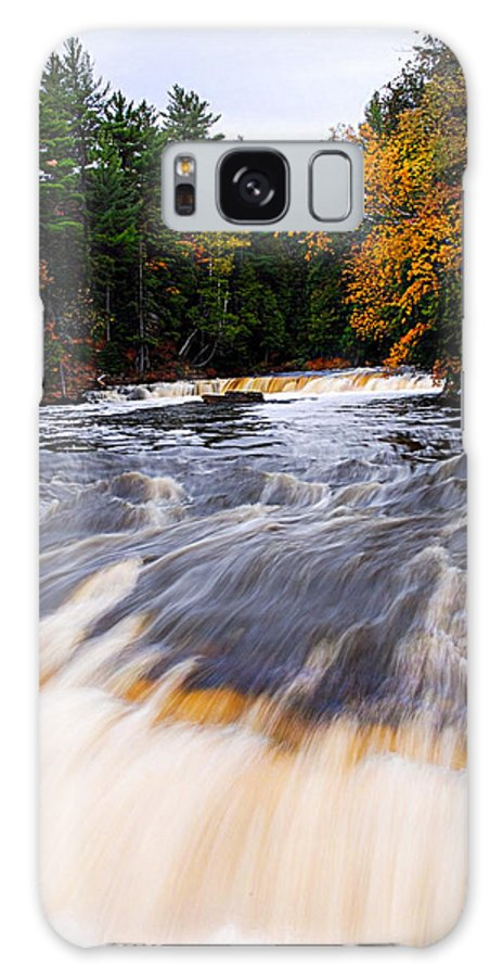 Optical Playground By Mp Ray Galaxy S8 Case featuring the photograph Taquamenon River by Optical Playground By MP Ray