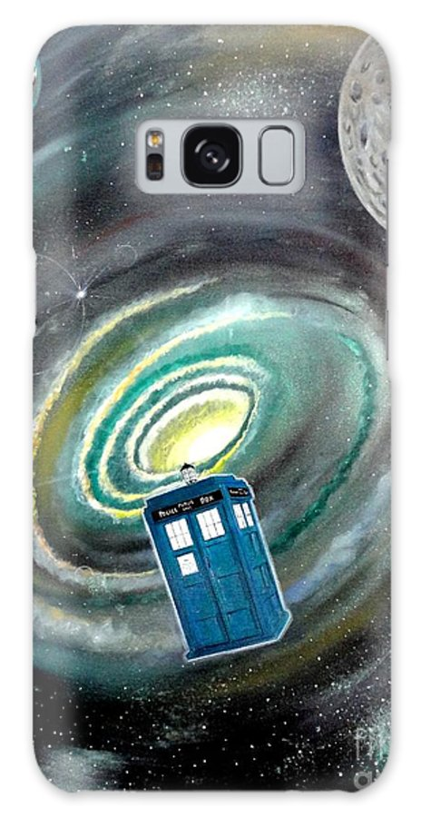 John Lyes Galaxy S8 Case featuring the painting Tardis by John Lyes