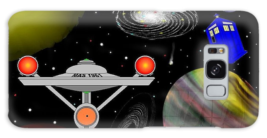 Tardis Galaxy S8 Case featuring the digital art Tardis Trek by Mark Springer