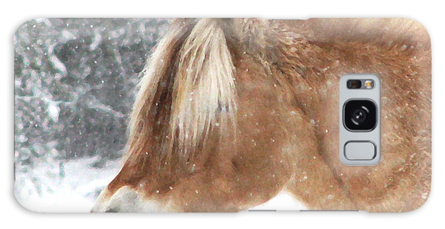 Horse Galaxy S8 Case featuring the photograph Tasty Snow by Karen Anderson