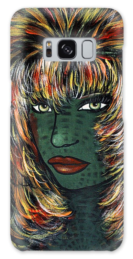 Woman Galaxy S8 Case featuring the painting Tattoo by Natalie Holland