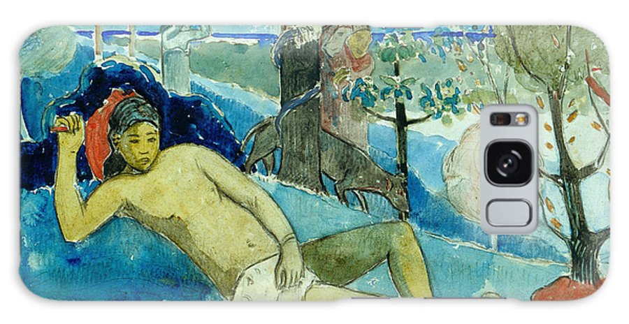 Paul Gauguin Galaxy S8 Case featuring the painting Te Arii Vahine .the Queen Of Beauty Or The Noble Queen. by Paul Gauguin