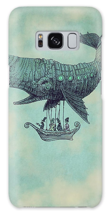 Whale Galaxy Case featuring the drawing Tea At Two Thousand Feet by Eric Fan