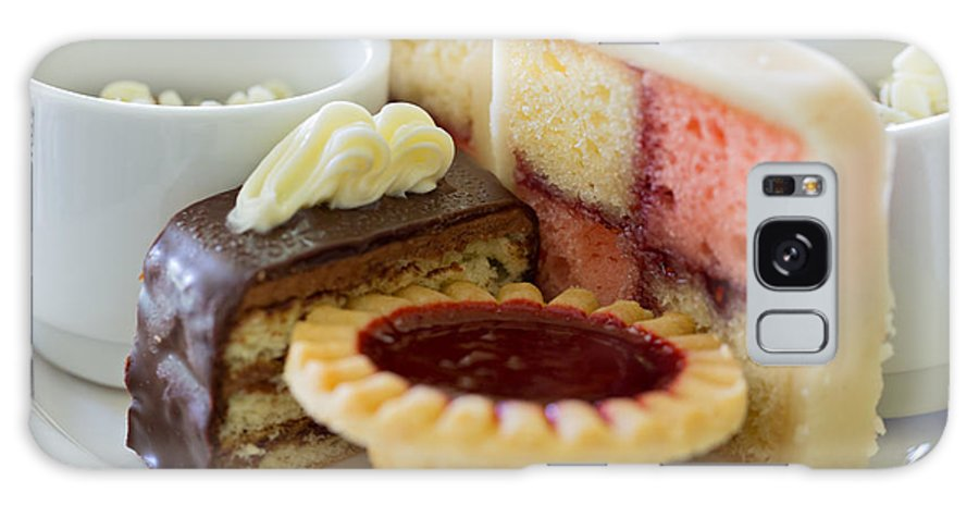 Cakes Galaxy S8 Case featuring the photograph Tea Cakes by Louise Heusinkveld