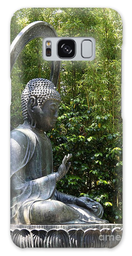Garden Galaxy S8 Case featuring the photograph Tea Garden Buddha by Christiane Schulze Art And Photography