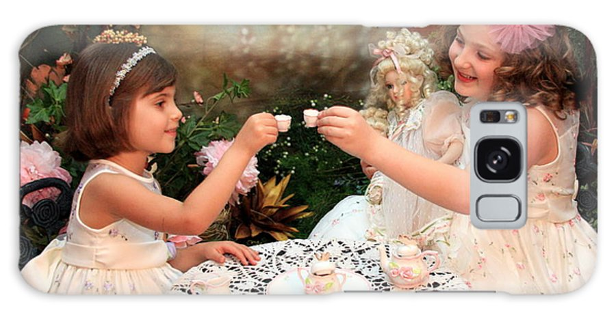 Child Galaxy S8 Case featuring the photograph Tea Party by Lindi Lambert