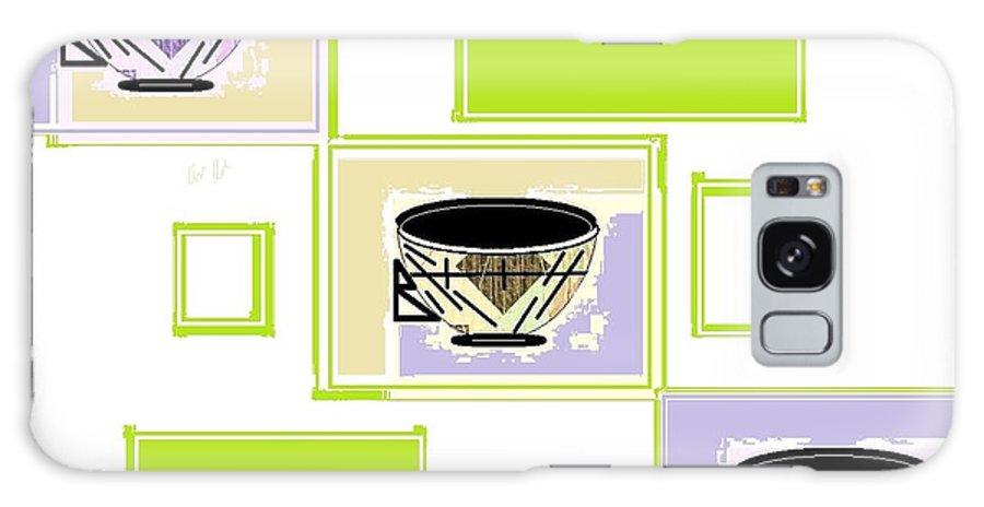 Tea Time Galaxy S8 Case featuring the digital art Tea Time by Ann Calvo