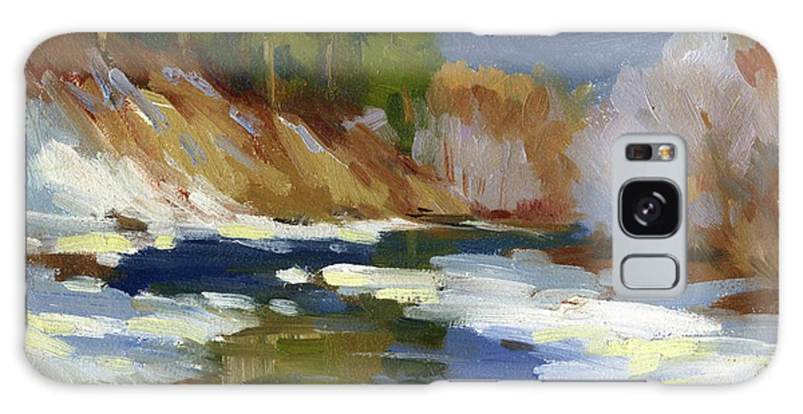 Teanaway River Galaxy S8 Case featuring the painting Teanaway River by Diane McClary