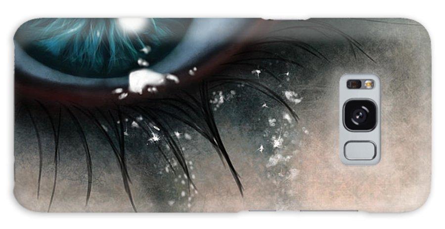 Eye Galaxy S8 Case featuring the digital art Tears by Pia Langfeld