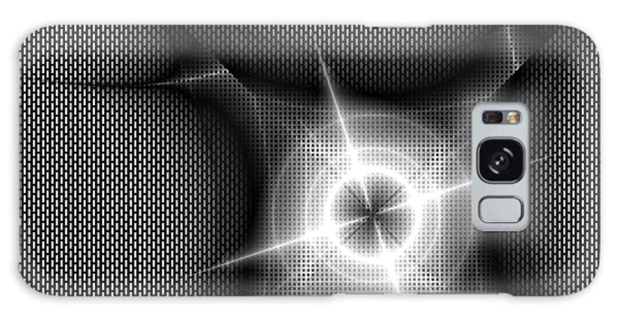 Tech Galaxy S8 Case featuring the digital art Techno Flash by Kiki Art