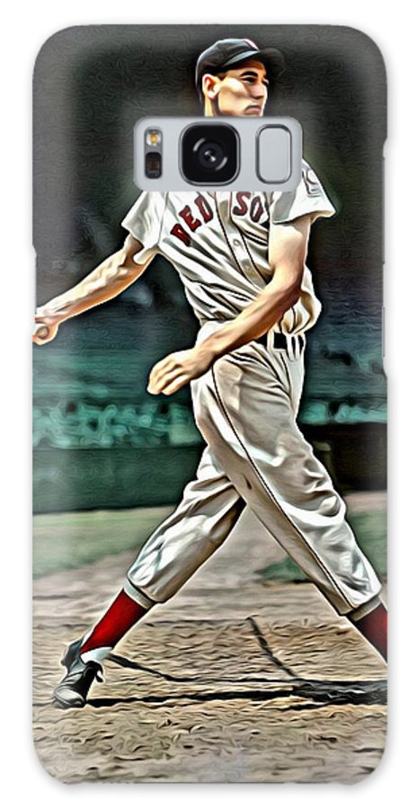 Mlb Galaxy S8 Case featuring the painting Ted Williams Painting by Florian Rodarte