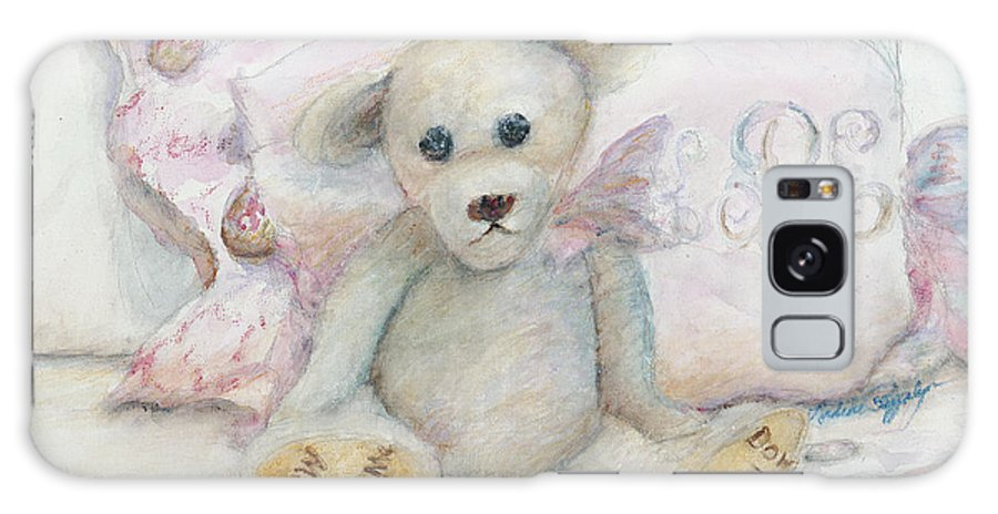 Teddy Bear Galaxy S8 Case featuring the painting Teddy Friend by Nadine Rippelmeyer