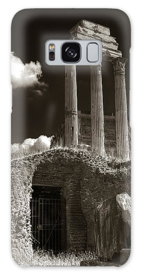 Rome Galaxy S8 Case featuring the photograph Temple Of Castor And Polux by Michael Kirk