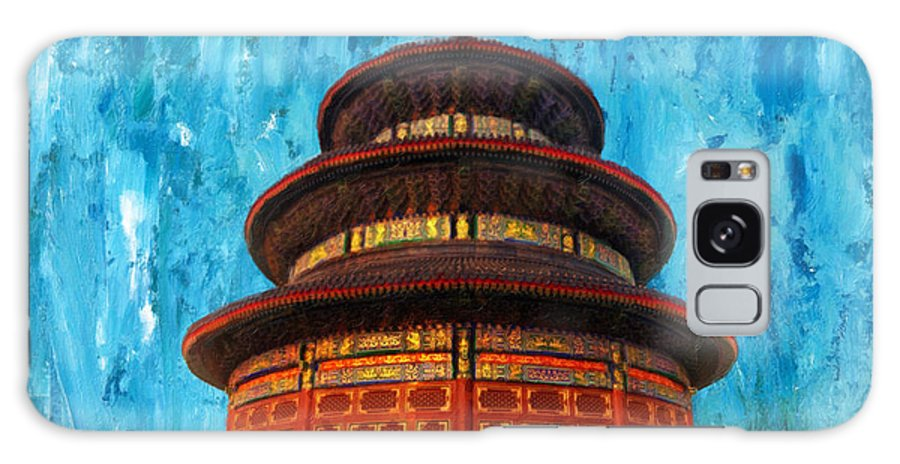 Heaven Galaxy S8 Case featuring the painting Temple Of Heaven by Jeelan Clark