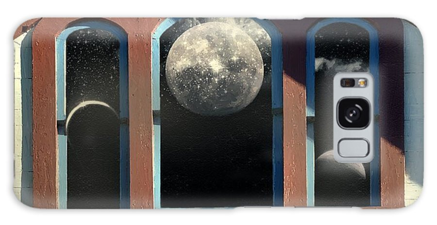 Moon Galaxy S8 Case featuring the painting Temple Of The Goddess by RC DeWinter