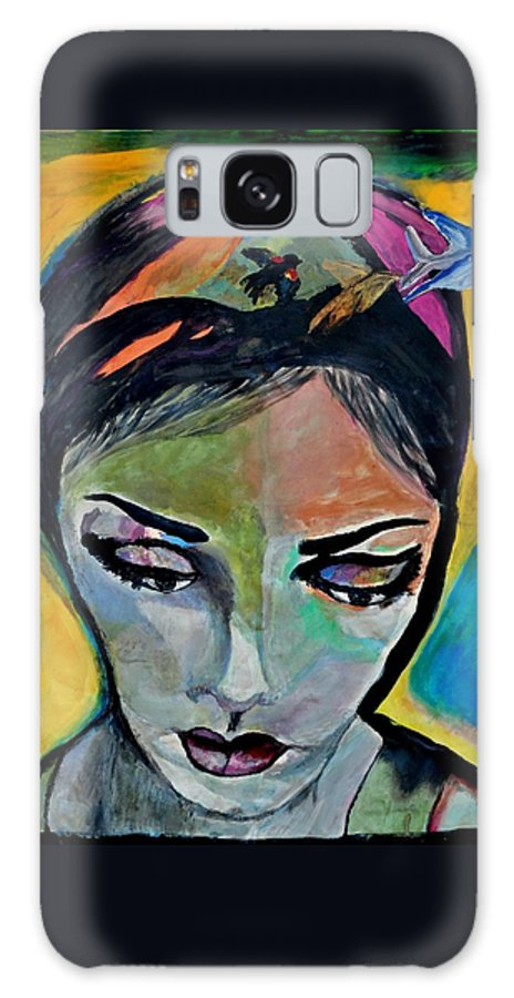 Woman Galaxy S8 Case featuring the painting Tenacity by Jill Jacobs
