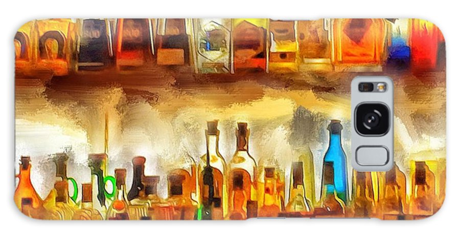 Tequila Galaxy S8 Case featuring the digital art Tequila Bar At Aquila Restayrant by Yury Malkov