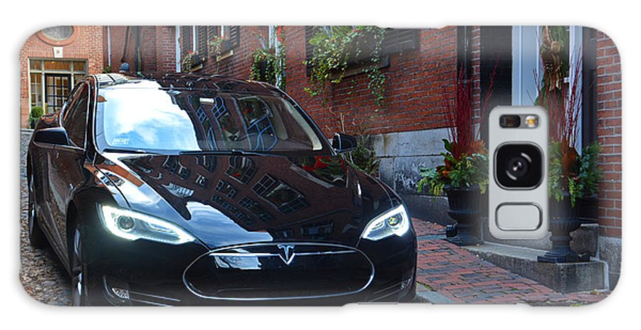 Tesla Galaxy S8 Case featuring the photograph Tesla On Acorn by Mike Martin