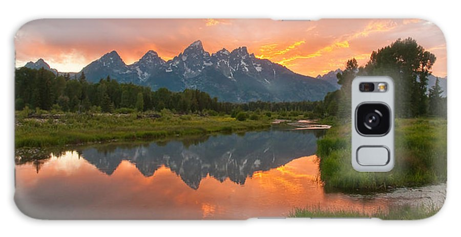 Galaxy S8 Case featuring the photograph Teton Sunset by Sam Parks
