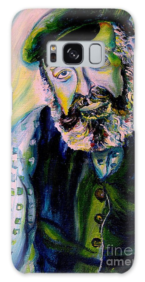 Tevye Fiddler On The Roof Galaxy S8 Case featuring the painting Tevye Fiddler On The Roof by Carole Spandau