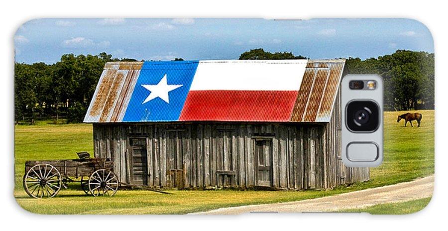 Gary Grayson Galaxy S8 Case featuring the photograph Texas Barn Flag by Gary Grayson