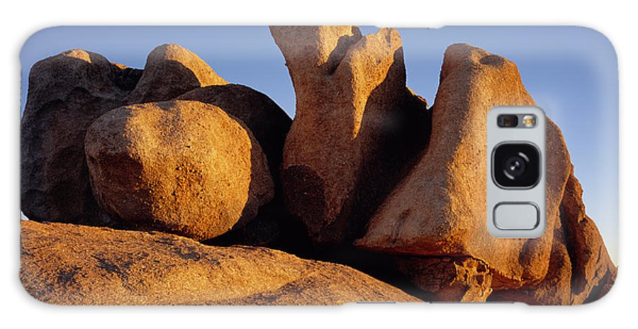 Arizona Galaxy S8 Case featuring the photograph Texas Canyon Golden Boulders by Tom Daniel