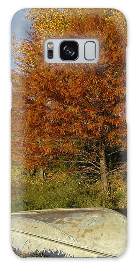 Texas Galaxy S8 Case featuring the photograph Texas Fall Color With Boat by Lynn Cromer