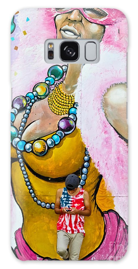 Carnivals Galaxy S8 Case featuring the photograph Texting by Colleen Kammerer
