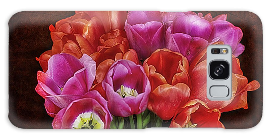 Tulips Galaxy S8 Case featuring the photograph Textured Tulips by Ray Still