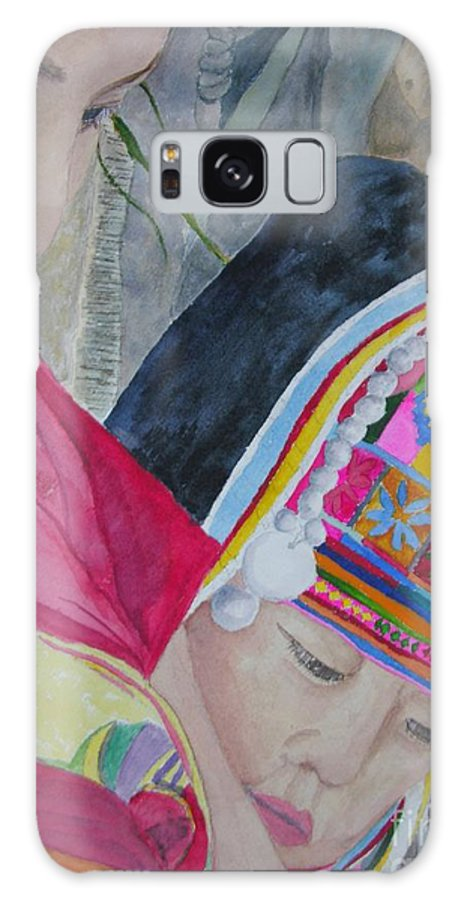 Baby Galaxy S8 Case featuring the painting Thai Hill Tribe by Peggy Dickerson