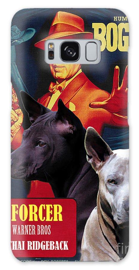 Thai Ridgeback Galaxy S8 Case featuring the painting Thai Ridgeback Art Canvas Print - The Enforcer Movie Poster by Sandra Sij
