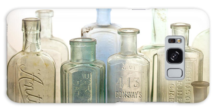 Bottle Galaxy Case featuring the photograph The Ages Reflected in Glass by Holly Kempe