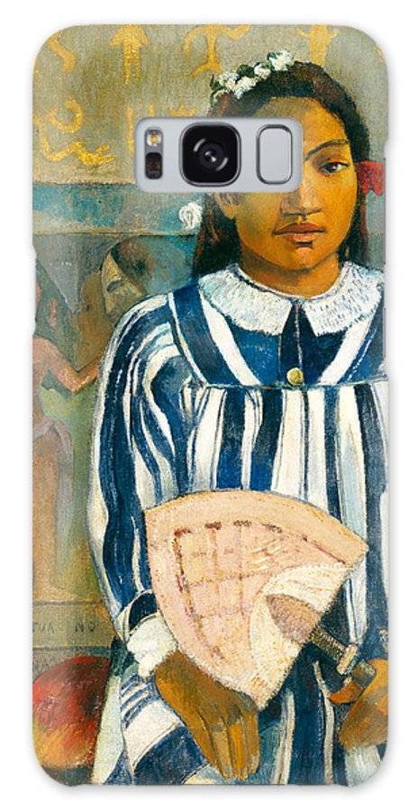 Paul Gauguin Galaxy S8 Case featuring the painting The Ancestors Of Tehamana Or Tehamana Has Many Parents.merahi Metua No Tehamana. by Paul Gauguin