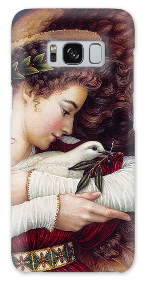 Angel Galaxy Case featuring the painting The Angel and The Dove by Lynn Bywaters
