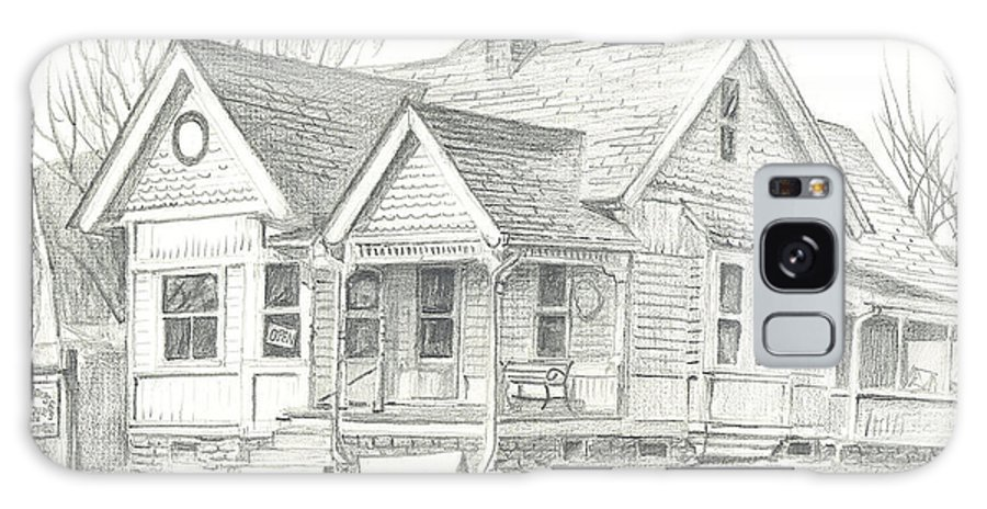 The Antique Shop Galaxy Case featuring the drawing The Antique Shop by Kip DeVore