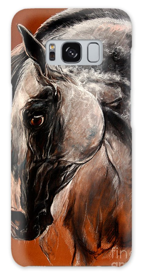 Horse Galaxy S8 Case featuring the drawing The Arabian Horse by Angel Ciesniarska