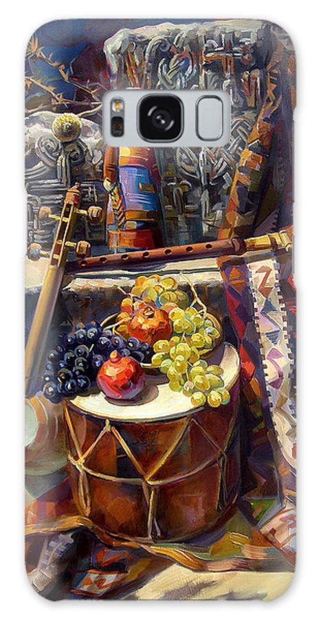 The Armenian Still-life Galaxy S8 Case featuring the painting The Armenian Still-life With A Armenian Doll by Meruzhan Khachatryan